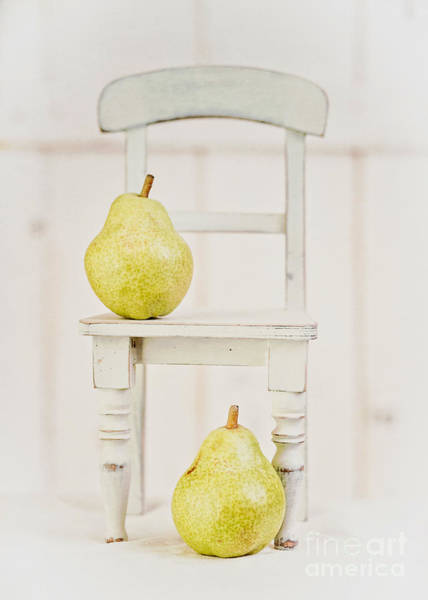 Photograph - Two Pears And A Chair Still Life by Edward Fielding