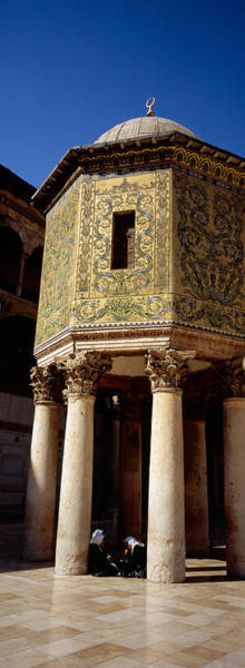 Damascus Photograph - Two People Sitting In A Mosque, Umayyad by Panoramic Images