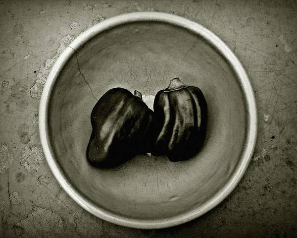 Photograph - Two Peppers In A Bowl by Patricia Strand