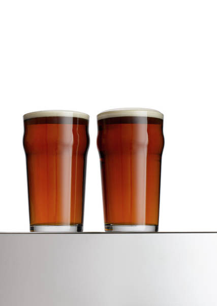 Beer Photograph - Two Pints Of Beer by Adrian Burke