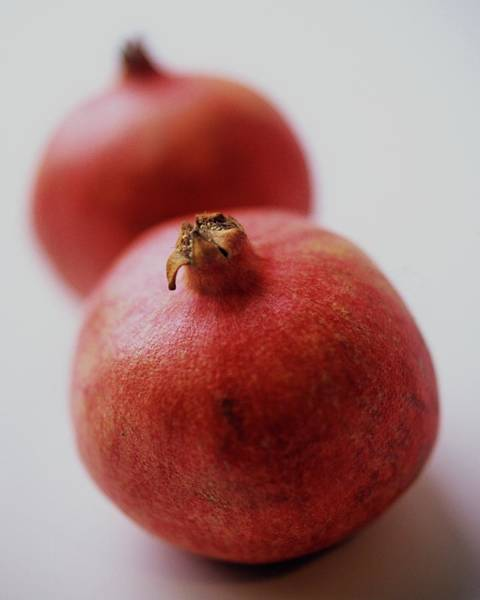 Fruits Photograph - Two Pomegranates by Romulo Yanes
