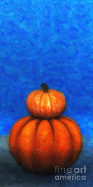 Digital Art - Two Pumpkins by Jutta Maria Pusl