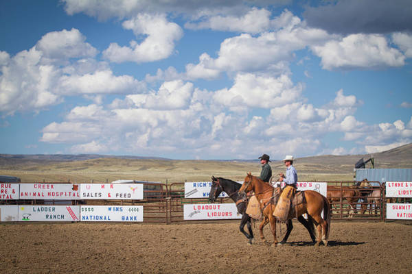 Toughness Photograph - Two Riders On Horses by Nicholas J Reid