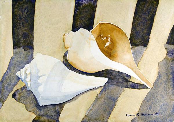 Painting - Two Shells by Lynn Hansen