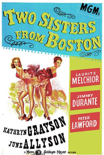 Burlesque Dancer Photograph - Two Sisters From Boston, Us Poster by Everett