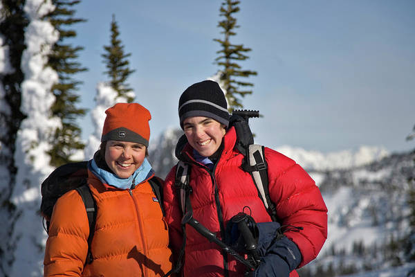 Jasmin Photograph - Two Skiers Pose For A Photograph by Whit Richardson