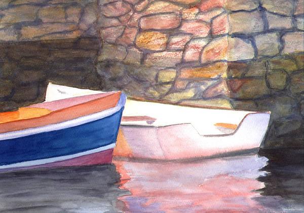 Painting - Two Skiffs by Peter Senesac