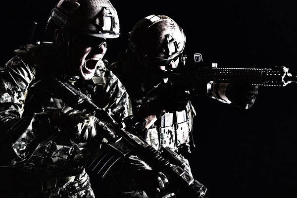 Wall Art - Photograph - Two Special Forces Soldiers In Field by Oleg Zabielin