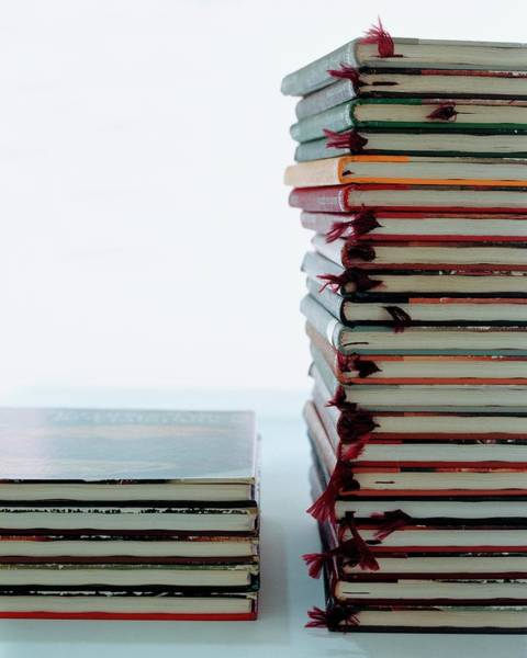 Pile Photograph - Two Stacks Of Books by Romulo Yanes