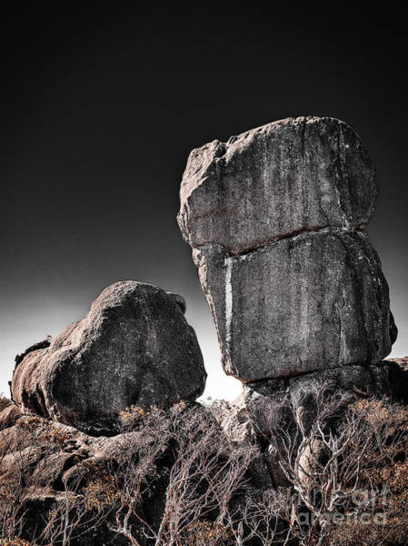 Photograph - Two Stones by Russell Brown