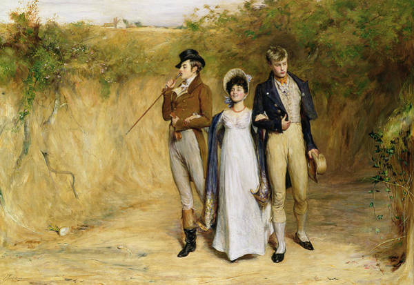 Gent Wall Art - Painting - Two Strings To Her Bow by John Pettie