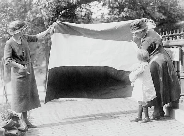 Wall Art - Photograph - Two Suffragettes Showing Banner by Stocktrek Images