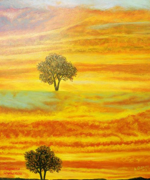Painting - Two Sunsets In Limassol by Augusta Stylianou