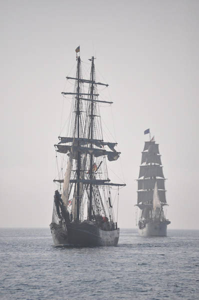 Photograph - Two Tall Ships In Door County by Larry Peterson