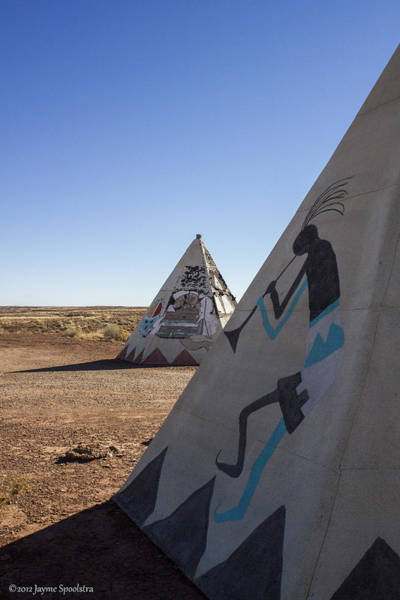Kokopelli Photograph - Two Teepees by Jayme Spoolstra