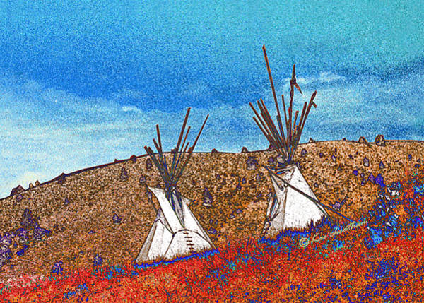 Two Teepees Art Print