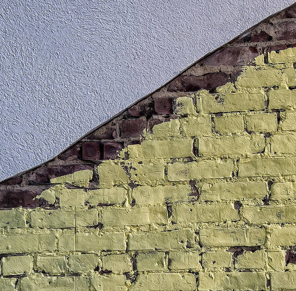 Photograph - Two Textures And A Boundary by Gary Slawsky