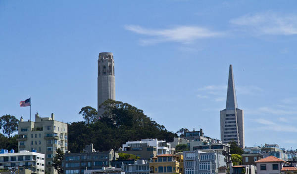 Coit Tower Photograph - Two Towers by Paul Anderson