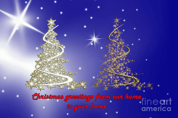 Digital Art - Two Trees For Christmas by Randi Grace Nilsberg