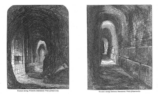 Wall Art - Drawing - Two Tunnels Formed By Layard's by Mary Evans Picture Library
