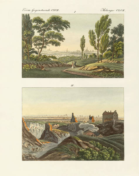 Notre Dame Drawing - Two Views Of Paris by Splendid Art Prints