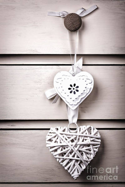 Drawers Photograph - Two Vintage Hearts by Jane Rix