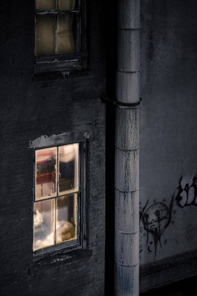 Photograph - Two Windows And Pipe - Viewed From The Manhattan Bridge by Gary Heller