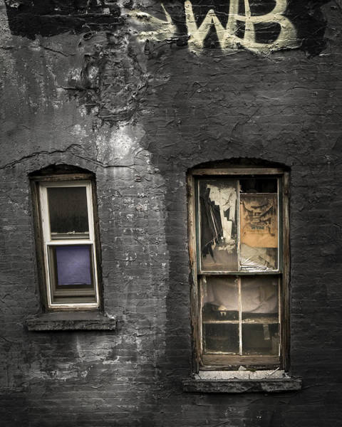 Photograph - Two Windows Old And New - Old Building In New York Chinatown by Gary Heller
