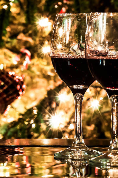 Photograph - Two Wine Glasses Ready To Bring In The New Year by Alex Grichenko