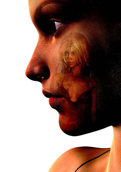 Wall Art - Digital Art - Two Women by David Ridley