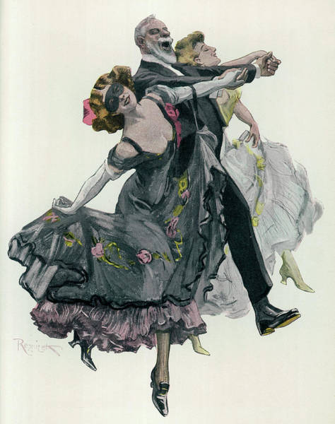 Trio Drawing - Two's Company, Three's Even  Better ! - by Mary Evans Picture Library