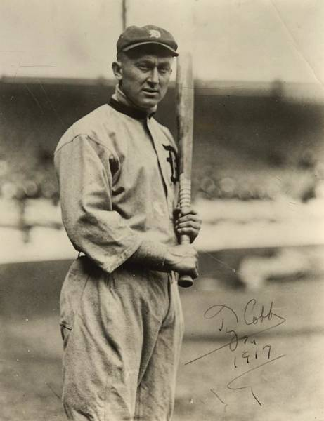 Mlb Photograph - Ty Cobb  Poster by Gianfranco Weiss