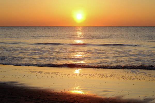 Tybee Island Photograph - Tybee Island Beach At Sunrise by Aimintang