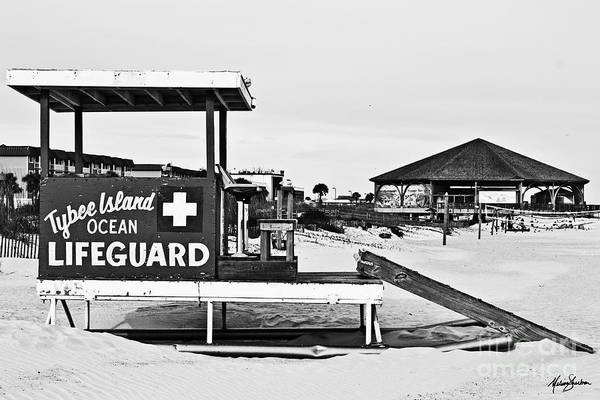 Photograph - Tybee Island Lifeguard Stand by Melissa Sherbon