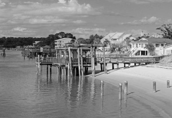 Wall Art - Photograph - Tybee Island Scenic In Black And White by Suzanne Gaff