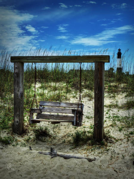 Photograph - Tybee Island Swing 001 by Lance Vaughn