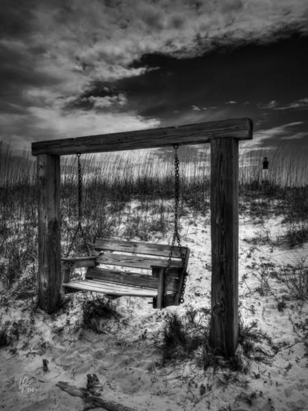 Photograph - Tybee Island Swing 002 Bw by Lance Vaughn