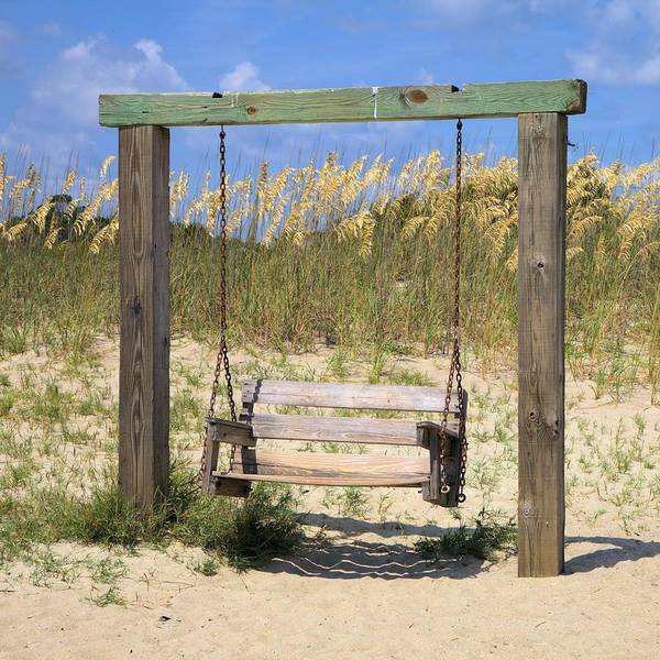Photograph - Tybee Island Swing - Square by Gordon Elwell