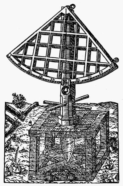 German Renaissance Drawing - Tycho Brahe's Quadrant by Granger
