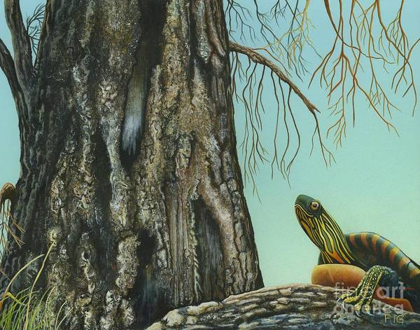 Painting - Tyler And The Tree by Rosellen Westerhoff