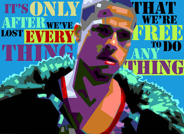 Burden Wall Art - Digital Art - Tyler Durden 2 by Douglas Simonson