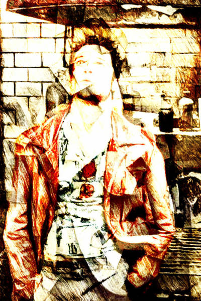 Brad Pitt Digital Art - Tyler Durden by Andrea Barbieri