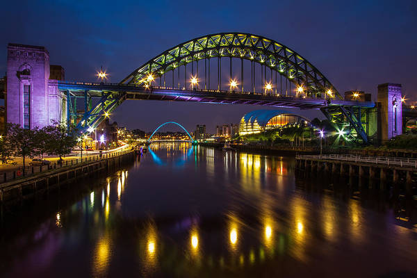 Millenium Photograph - Tyne Bridge And Sage by Wayne Molyneux