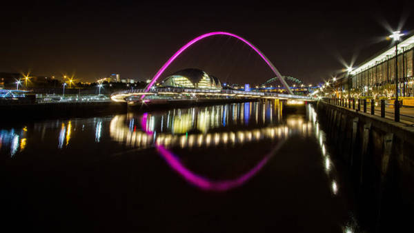 Millenium Photograph - Tyne Bridges And The Sage by Wayne Molyneux