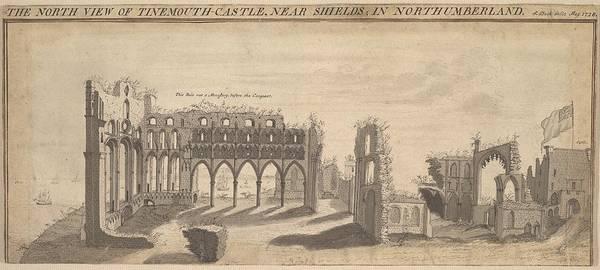 Buck Drawing - Tynemouth Castle, Northumberland by Samuel Buck