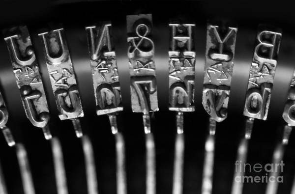 Typewriters Wall Art - Photograph - Type Castings by Dan Holm