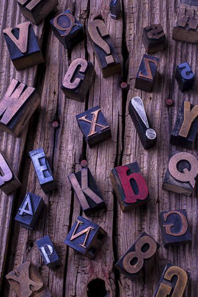 Language Photograph - Typesetting Blocks by Garry Gay