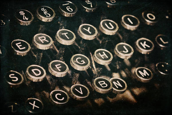 Photograph - Typewriter Keys by Pam  Holdsworth