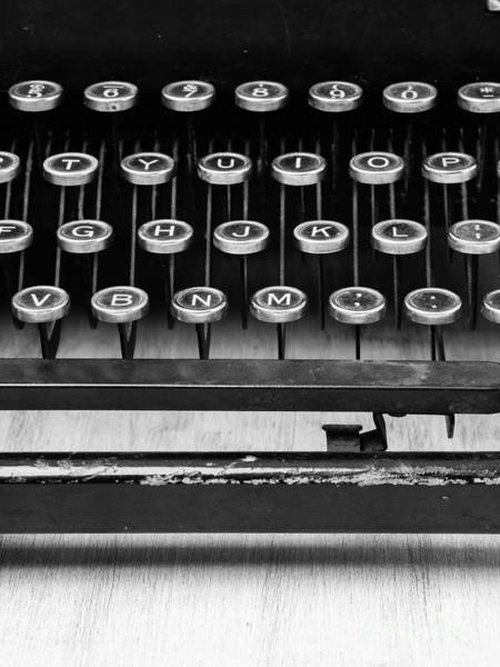 Triptych Wall Art - Photograph - Typewriter Triptych Part 2 by Edward Fielding