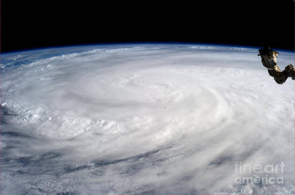 Photograph - Typhoon Haiyan- Iss Photo-2013 by Science Source